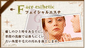 【フェイシャルエステ】癒しのひと時をあなたに。普段の洗顔では落ちにくい古い角質や毛穴の汚れを落とします。